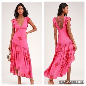 Free People She's A Waterfall Floral Maxi Dress 12